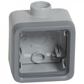 Коробки с кабельными вводами для накладного монтажа - Программа Plexo - серый - 1 пост - PG (комплект 5 шт.)