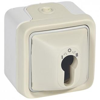 Выключатель с цилиндром белый, Plexo
