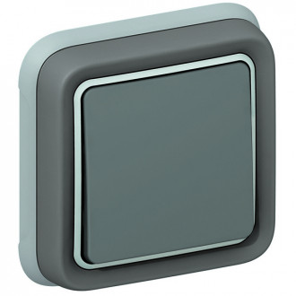 Переключатель серый, Plexo (комплект 10 шт.)