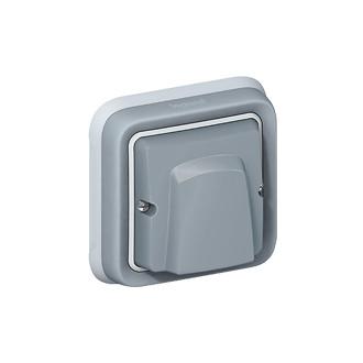 Вывод кабеля с зажимом - Программа Plexo - серый (комплект 5 шт.)