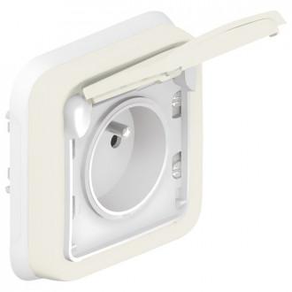 Розетка  - французский стандарт - с защитой - с безвинтовыми зажимами - Программа Plexo - белый - 16 A - 250 В (комплект 10 шт.)