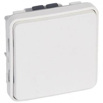 Кнопка - антибакт. покрытие - Н.О. контакт - Программа Plexo - 10 A - модульная - белый (комплект 5 шт.)