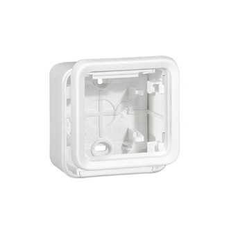 Накладная коробка - антибакт. покрытие - Программа Plexo - 1 пост - модульная - белый