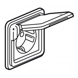 Розетка - Программа Soliroc - немецкий стандарт - с защитными шторками - с винтовыми зажимами - с крышкой IP 55
