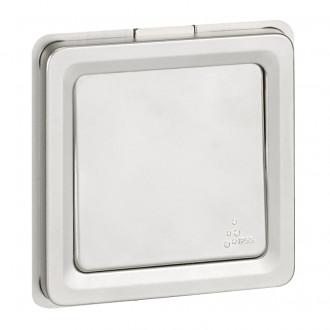 Кнопка с переключающим контактом Н.О.-Н.З. - Программа Soliroc - 6 A - 230 В~ - IK 10 - IP 55