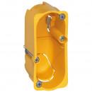 Коробка одноместная - Программа Batibox - для сухих перегородок - для механизмов Celiane/Mosaic - 1 модуль - глубина 40