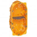 Коробка многоместная - Программа Batibox - для сухих перегородок - 2-местная - 4/5 модулей - глубина 40