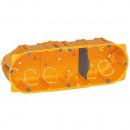 Коробка многоместная - Программа Batibox - для сухих перегородок - 3-местная - 6/8 модулей - глубина 40