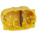 Коробка многоместная - Программа Batibox - для сухих перегородок - для изделий Mosaic - 3 модуля - глубина 40