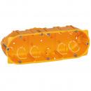 Коробка многоместная - Программа Batibox - для сухих перегородок - 3-местная - 6/8 модулей - глубина 50
