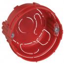 Встраиваемая коробка Batibox - одноместная - для кирпичных стен - круглая - диаметр 67 мм - глубина 40 мм - с винтами