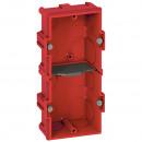 Коробка многоместная - Программа Batibox - для кирпичных стен - 2-местная - 4/5 модулей - верт./гориз. монтаж - гл. 40