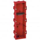 Коробка многоместная - Программа Batibox - для кирпичных стен - 3-местная - 6/8 модулей - верт./гориз. монтаж - гл. 40