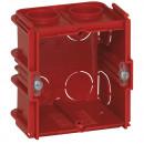 Коробка одноместная - Программа Batibox - для кирпичных стен - квадратная соединяемая - глубина 60