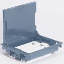 Напольная коробка 24 модулей с регулируемой глубиной 75-105 мм, с крышкой для коврового/паркетного покрытия, серая