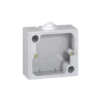 Накладная монтажная коробка - 79x86x40 - для штепсельных розеток 20 А Кат. № 0 557 03/06/08 - серый (комплект 10 шт.)