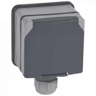 Розетка 3К+3 20A с защитными шторками в сборе IP66, Plexo (комплект 5 шт.)