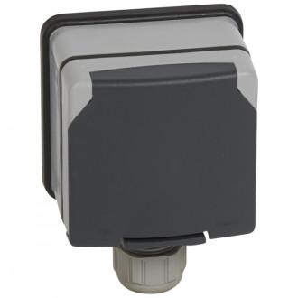 Розетка 3К+Н+3 20А с защитными шторками в сборе IP66, Plexo (комплект 5 шт.)