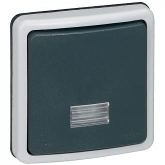 Переключатель двухполюсный с подсветкой IP66, Plexo (комплект 2 шт.)