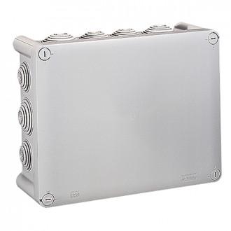 Коробка прямоугольная - 220x170x86 - Программа Plexo - IP 55 - IK 07 - серый - 14 кабельных вводов - 750°C (комплект 10 шт.)