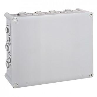 Коробка прямоугольная - 360x270x124 - Программа Plexo - IP 55 - IK 07 - серый - 24 кабельных ввода - 750°C