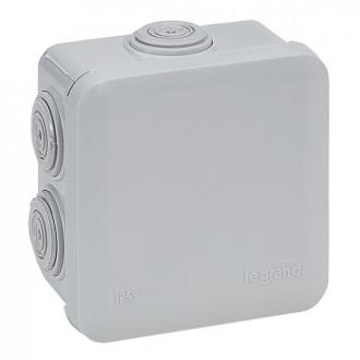 Коробка - Программа Plexo - IP 55 - IK 07 - квадратная - 80х80х45 мм - 7 кабельных вводов (комплект 5 шт.)
