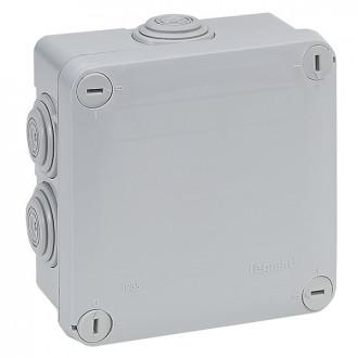 Коробка - Программа Plexo - IP 55 - IK 07 - квадратная Класс II - 105х105х55 мм - 7 кабельных вводов (комплект 5 шт.)