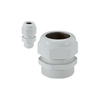 Уплотнитель пластиковый - IP 55 - ISO 16 - диаметр кабеля 5-10 мм - RAL 7035 (комплект 50 шт.)
