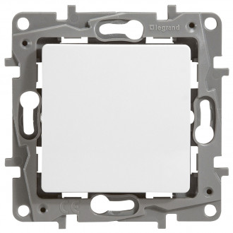 Выключатель (кнопка) белый, Etika Plus