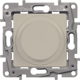 Светорегулятор поворотный без нейтрали 300Вт слонвоая кость, Etika