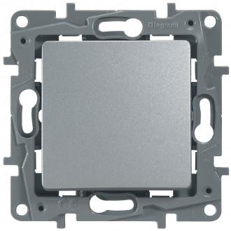 Выключатель (кнопка) цвета алюминий, Etika Plus