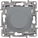 Светорегулятор поворотный без нейтрали 300Вт алюминий, Etika