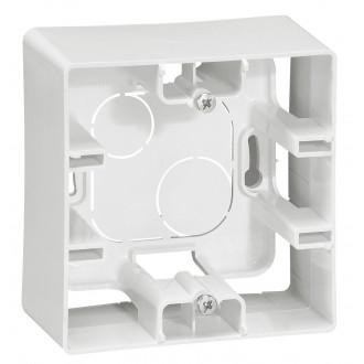 Коробка накладного монтажа 1 пост белая, Etika