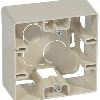 Коробка накладного монтажа 1 пост слоновая кость, Etika