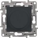 Светорегулятор поворотный без нейтрали 300Вт антрацит, Etika