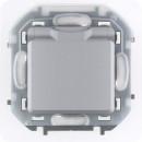 Розетка с заземлением, защитной крышкой со шторками алюминий, IP44, Inspiria