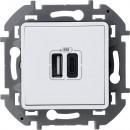 Зарядное устройство, тип А-тип С белый, Inspiria