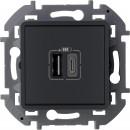 Зарядное устройство тип А-тип С антрацит, Inspiria