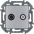 Розетка  TV-спутниковая алюминий, Inspiria