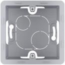 Коробка для накладного монтажа 1 пост алюминий, Inspiria