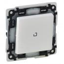 Выключатель с подсветкой влагозащитный IP 44 белый, Valena Life