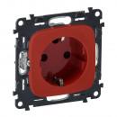 Розетка с защитными шторками с механической блокировкой красная, Valena Allure (комплект 5 шт.)