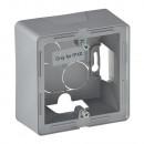 Одноместная коробка для накладного монтажа - 89 x 89 x 448 мм - Valena Life - алюминий