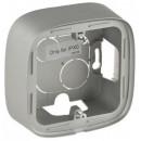 Одноместная коробка для накладного монтажа - 94 x 94 x 448 мм - Valena Allure - алюминий (комплект 10 шт.)