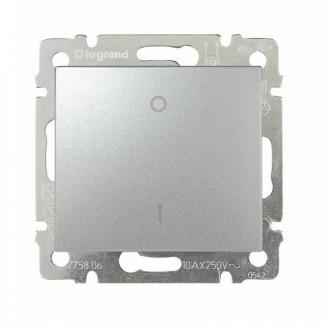 Выключатель двухполюсный 16А цвета алюминий, Valena (комплект 10 шт.)