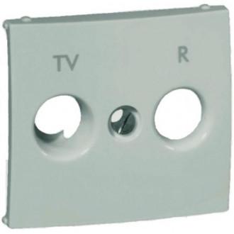 Лицевая панель для розеток TV-R  цвета алюминий, Valena