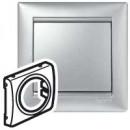 Лицевая панель универсальная цвета алюминий, Valena