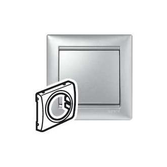Лицевая панель универсальная цвета алюминий, Valena (комплект 10 шт.)