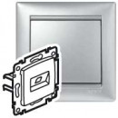 Информационная розетка Valena - RJ45 - Кат. 6 - UTP - 1 выход - монтаж на винтах - алюминий
