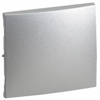 Лицевая панель для одноклавищного выключателя цвета алюминий, Valena